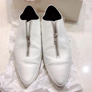 Stella McCartney Zip Point Toe Loafers Flat